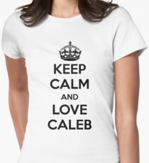 Keep Calm and Love Caleb Womens Fitted T-Shirt