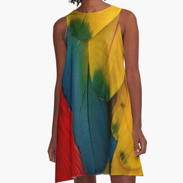 Macaw Feather Magic A-Line Dress