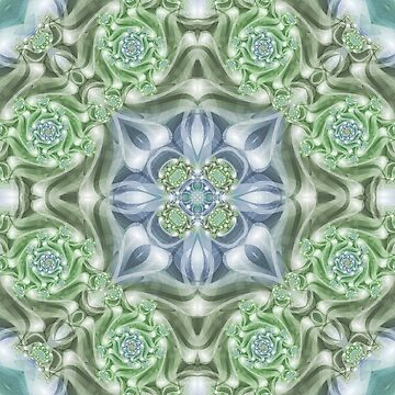 Shades of Green Mandala by kellydietrich