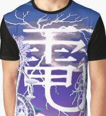 Den and the Delft Blue Lightning Dragon Graphic T-Shirt