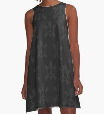 Peace Turtle (midnight) A-Line Dress