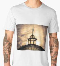 Sunset Glasshouse In Winter Men's Premium T-Shirt