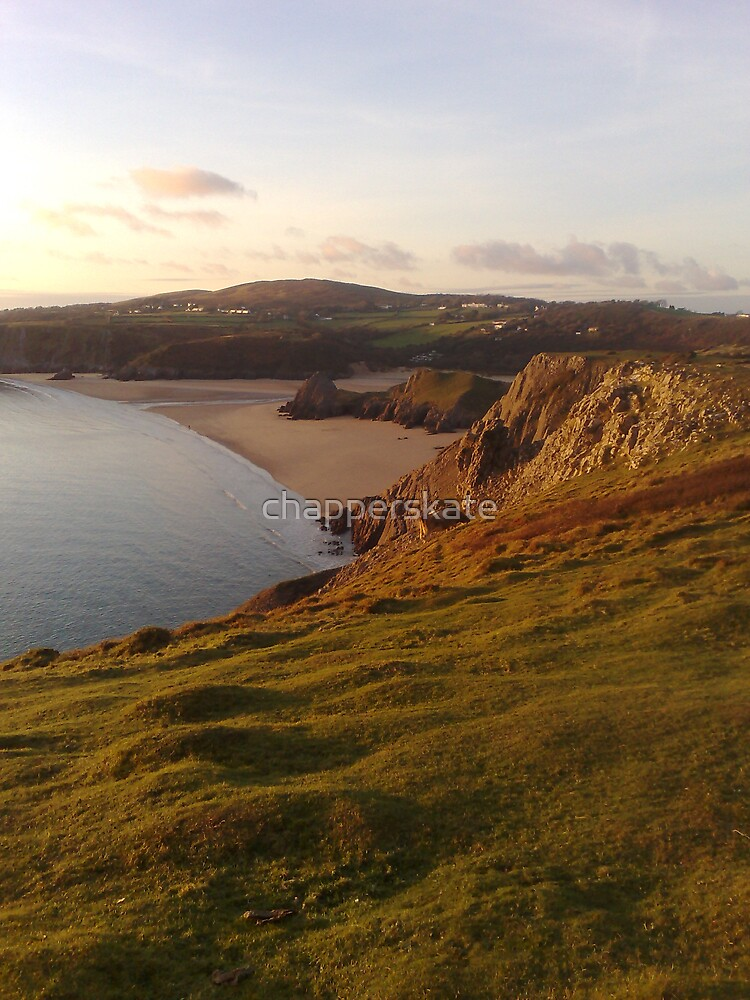 Three Cliffs, The Gower, South Wales by chapperskate