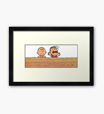 Charlie Brown Brick Wall Framed Print