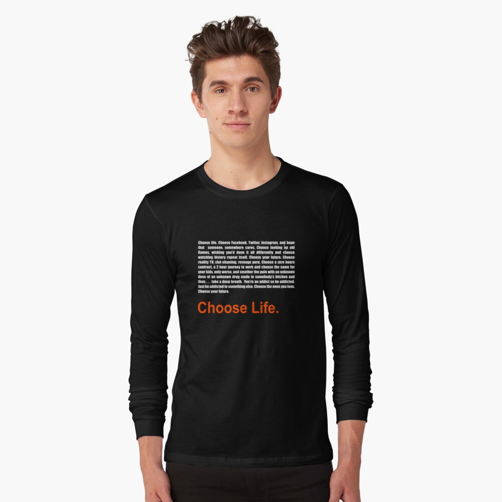 """T2 Trainspotting 2 Choose Life "" T-shirt By Blackrabbit2"