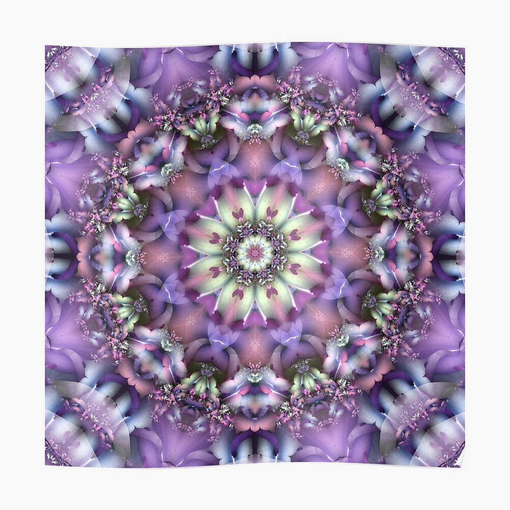 Lilac Mandala Poster
