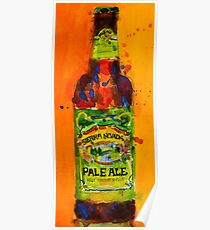 Sierra Nevada Pale Ale Beer Art Print from original Watercolor - Man Cave - College Dorm -Bar Art Poster