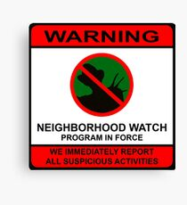 Elm Street Neighborhood Watch Poster Canvas Print