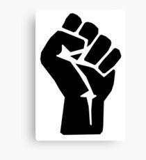FIST, Black, Rebellion, Strength, Power, Grasp, Grab, Hold, Tough, MMA Canvas Print