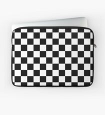 Checkered Flag, Chequered Flag, Motor Sport, Checkerboard, Pattern, WIN, WINNER,  Racing Cars, Race, Finish line, BLACK Laptop Sleeve