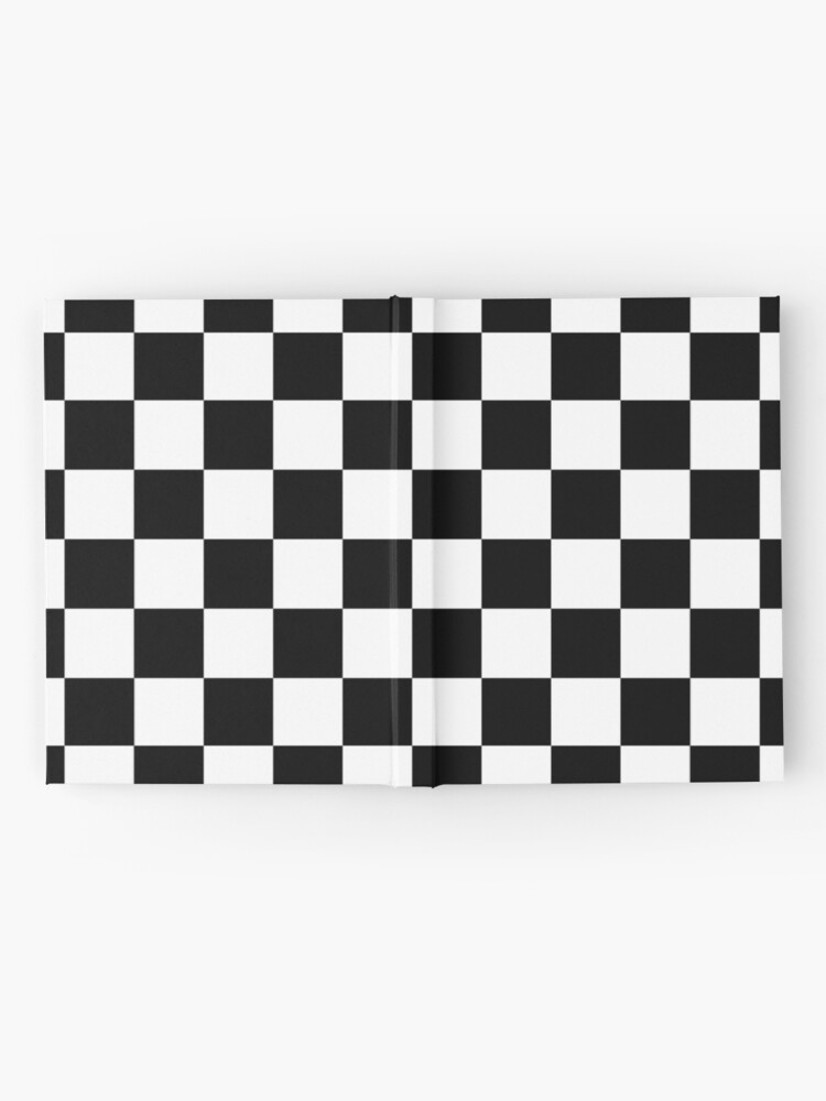 Alternate view of Checkered Flag, Chequered Flag, Motor Sport, Checkerboard, Pattern, WIN, WINNER,  Racing Cars, Race, Finish line, BLACK Hardcover Journal