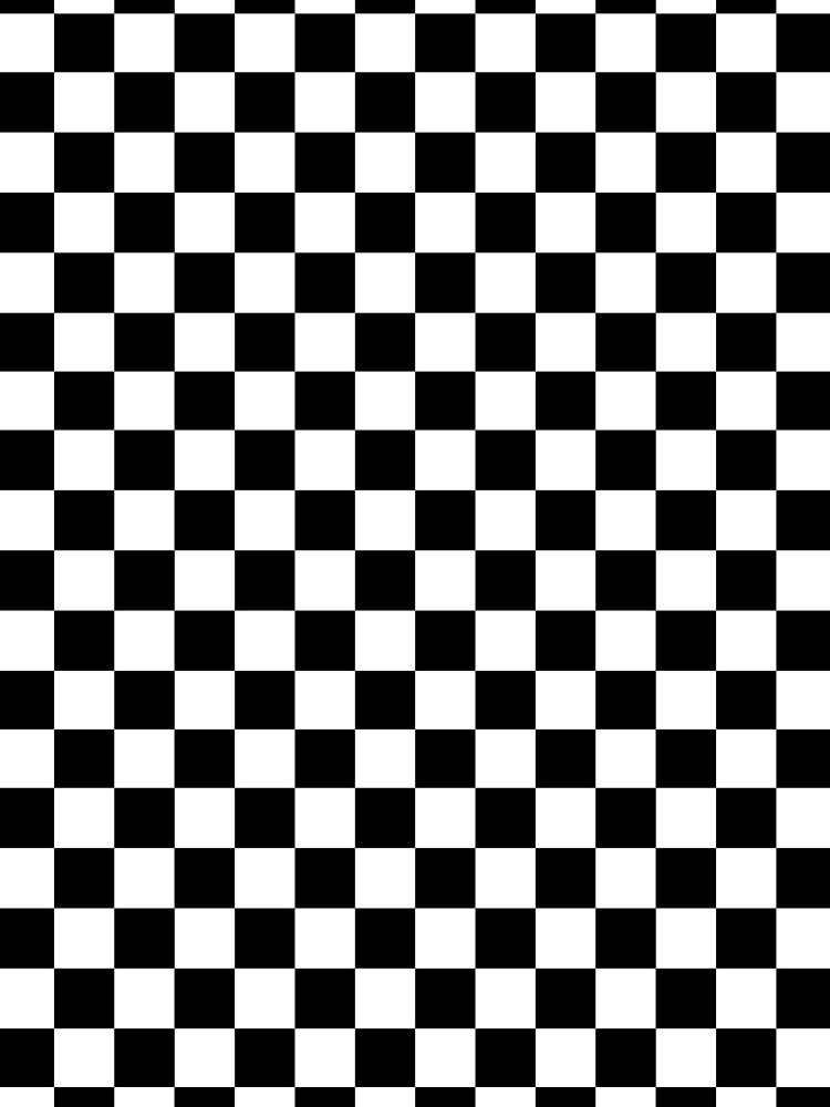 Checkered Flag. Chequered Flag. Motor Sport. Checkerboard. Pattern. WIN. WINNER.  Racing Cars. Race. Finish line. BLACK. by TOMSREDBUBBLE