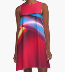 Neon - Red and Blue 2 A-Line Dress