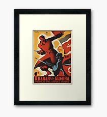 Spanish Civil War Propaganda Poster Framed Print