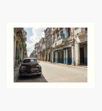 Kuba - Oldtimer - Havanna Art Print