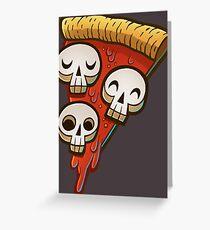 Pizza Skullgioni Greeting Card