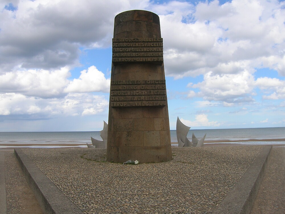Normandy: Omaha Beach Memorial by Jonathan Stoney