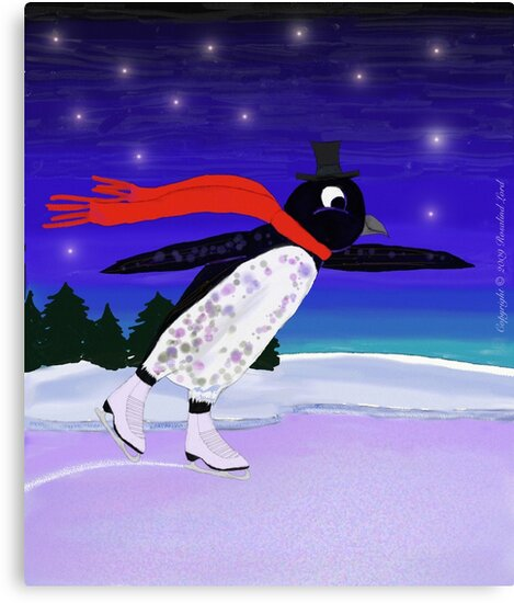 Skating Penguin by SeaSerpent