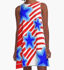 Stars and Stripes A-Line Dress