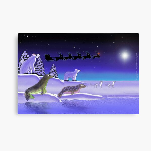 Arctic Christmas Eve Canvas Print