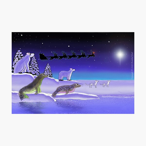 Arctic Christmas Eve Photographic Print