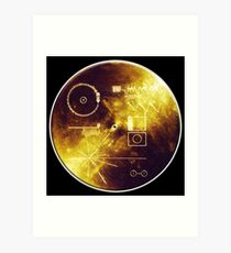 VOYAGER, Space, Golden Record, Spacecraft, Message to Aliens Art Print