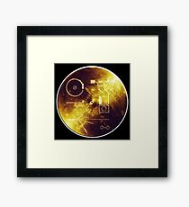 VOYAGER, Space, Golden Record, Spacecraft, Message to Aliens Framed Print