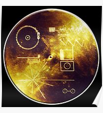 VOYAGER, Golden Record, Spacecraft, Message to Aliens Poster