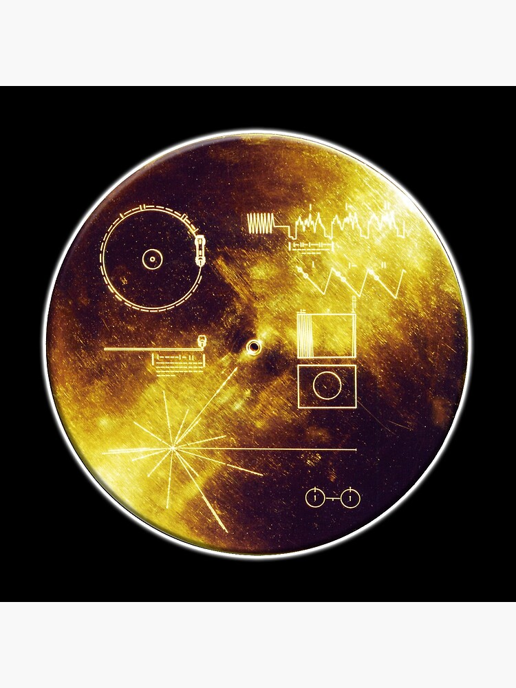 VOYAGER. Space, Golden Record, Spacecraft, Message to Aliens. by TOMSREDBUBBLE