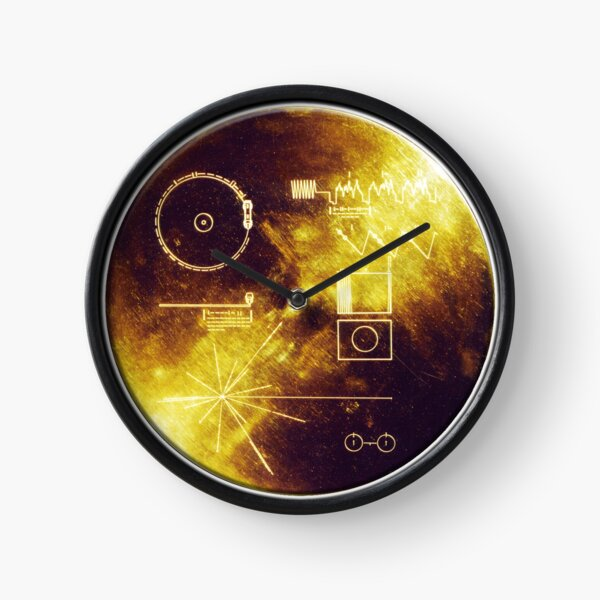 VOYAGER. Space, Golden Record, Spacecraft, Message to Aliens. Clock