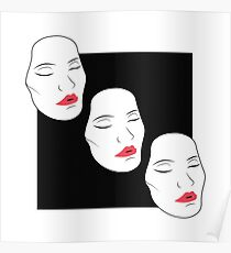 woman with red lips Poster