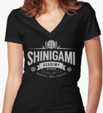 Shinigami Academy Women's Fitted V-Neck T-Shirt