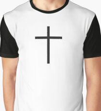 Cross, Christian, Crucifix, Crucifixion, Christ, Christianity, Jesus, Lord, Saviour, Bible, Biblical, Black Graphic T-Shirt