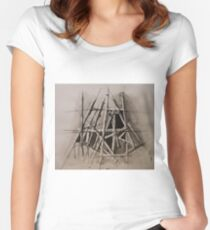 Graphic easel Women's Fitted Scoop T-Shirt