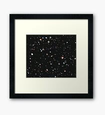 Hubble, COSMOS, Nasa, Extreme Deep Field image, space, constellation, Fornax Framed Print