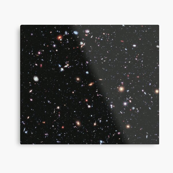 THE COSMOS. HUBBLE. Nasa, Extreme Deep Field image, space, constellation, Fornax. Metal Print