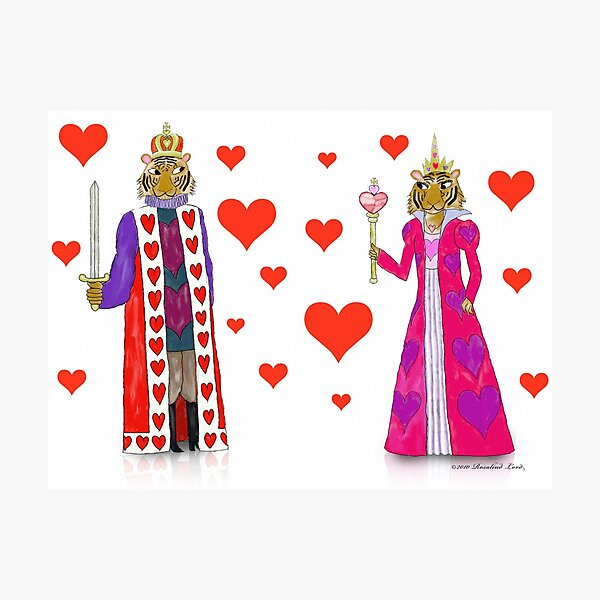 Tiger King and Queen of Hearts Photographic Print