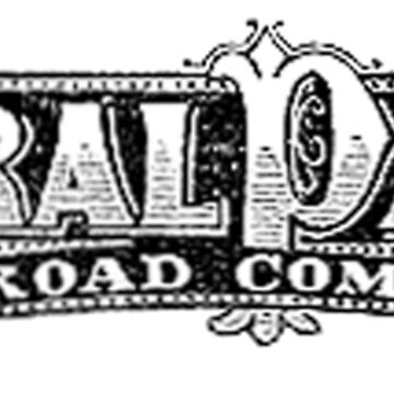 TRAINS, AMERICAN, Central Pacific, RAILROAD, Rail, American, Central Pacific Railroad Company. CPRR, LOGO, Steam, Train. by TOMSREDBUBBLE