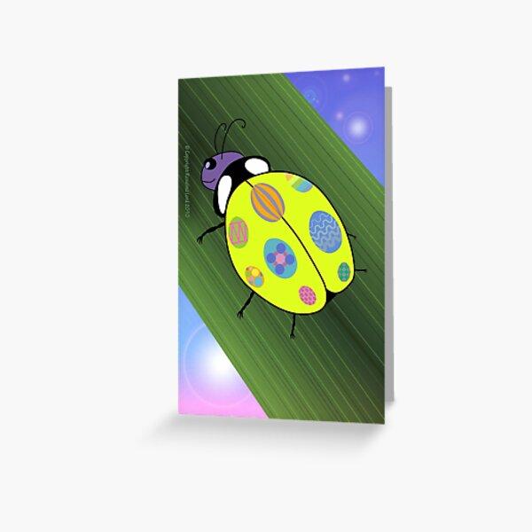 Easter Ladybug Greeting Card