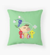 Olimar and Pikmin Vector Throw Pillow