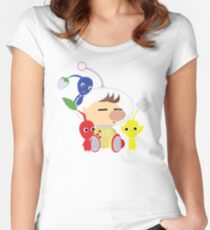 Olimar and Pikmin Vector Women's Fitted Scoop T-Shirt