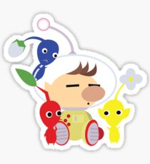 Olimar and Pikmin Vector Sticker
