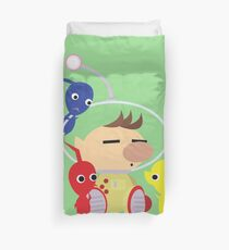 Olimar and Pikmin Vector Duvet Cover
