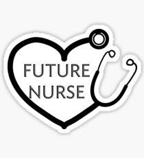 Future Nurse - Heart Scope Sticker