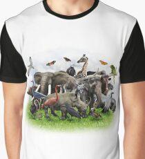 Animal Collage Graphic T-Shirt
