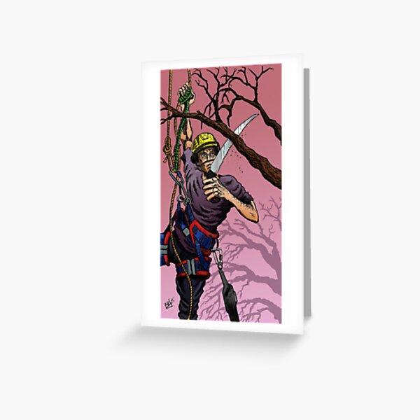 Tree Surgeon Greeting Card