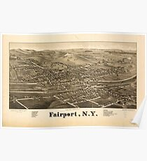 Panoramic Maps Fairport NY Poster