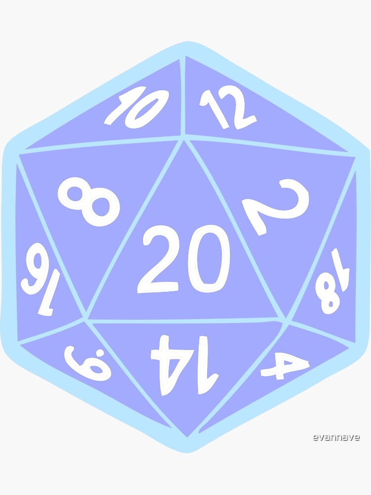Twenty Sided Dice Pattern in Pastels by evannave