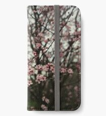 Faded pink blossom iPhone Wallet/Case/Skin