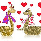 Snake King and Queen of Hearts by SeaSerpent